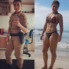 Working girls have two sides of their life one in uniform and other out of uniform. Check beautiful girls in and out of uniform that will make your day. Sexy Women, Badass Women, Fit Women, Female Soldier, Military Women, Girls Uniforms, Sporty Girls, Bikini Girls, Women Hunting
