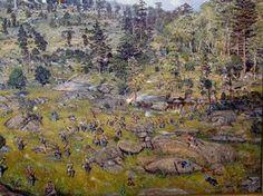 "Gettysburg, Civil War Art/ Battle of ""The Devil's Den"", ""Slaughter Pen"", and Little Round Top - Gettysburg, 5PM, July 2nd, 1863"