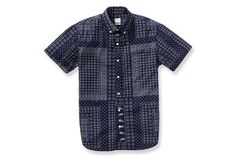 Blue bandana print shirt by Bonobos