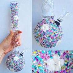 Blooming Confetti Twister Bong — Tall
