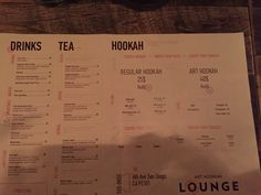 Photo of Art Hookah Lounge - San Diego, CA, United States. menu is an art here, so i would say that this is a correct name for this place. like the menu, like how it look inside