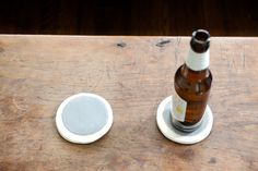 Round Coasters in Gray - www.thisland.com