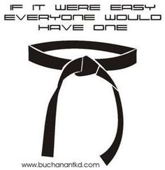 I have one My instructor actually told me this many times. If it were easy ev - Black Belt - Ideas of Black Belt - I have one My instructor actually told me this many times. If it were easy everyone would do it. Martial Arts Quotes, Martial Arts Workout, Martial Arts Training, Boxing Workout, Karate Shotokan, Kenpo Karate, Jka Karate, Isshinryu Karate, Recorder Karate