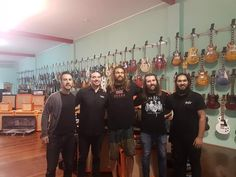 """Khal Drogo (aka Jason Momoa) recently dived into our Windsor store and couldn't leave without a beautiful Epiphone Joe Bonamassa """"Treasure"""" Firebird-I. Jason is currently in town filming #Aquaman!"""