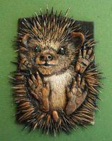 Hedgehog Polymer clay ACEO by MandarinMoon book cover