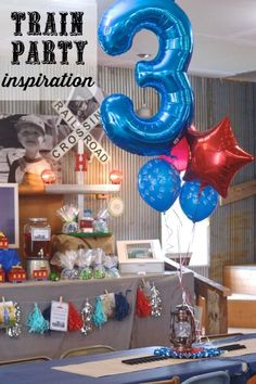 Train party inspiration for kids - check out all the fun and simple ideas to make a railroad birthday party extra special. (Crafts, cake, invitation, cookies, favors, games)