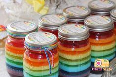 Rainbow Jello Jars Recipe | by Gemma from Party Style Magazine #rainbowjello #jello #jellorecipes #rainbowparty