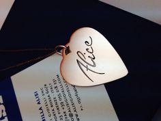 Un cuore speciale, per una persona speciale... cuore in oro rosa con nome traforato