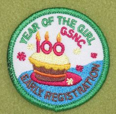 Girl Scouts Nassau County 100th anniversary cake patch. Thank you Sandy.