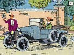 Professor Calculus in a Herge Tintin, Ligne Claire, Car Illustration, Star Art, Funny Comics, Caricature, Illustrations Posters, Comic Books, Drawings