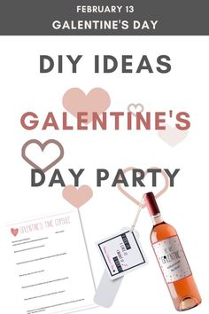 Planning a Galentine's Day celebration? Peek through some of these easy DIY ideas to make your event a fun and memorable celebration. Wine Glass Crafts, Wine Bottle Crafts, Party Games, Party Favors, Girls Night Games, Galentines Day Ideas, Diy Party Decorations, Valentines Diy, Best Friend Gifts
