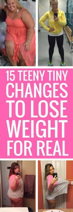 15 small changes you can start making today to lose weight faster.