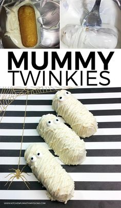Halloween Mummy Twinkies - Kitchen Fun With My 3 Sons