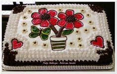 http://patyshibuya.com.br/ Bolo Decorado by Paty Shibuya Decorated Cake by Paty Shibuya  Bolo vasinho de Flores (Small vase of Flowers Cake)