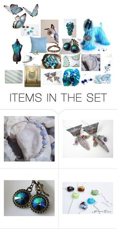 """Something Blue"" by treasury ❤ liked on Polyvore featuring art"