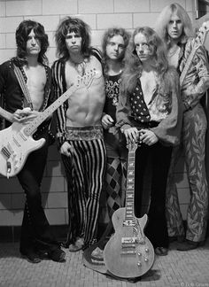 Aerosmith Backstage In New York City, 1973 Photo By Bob Gruen
