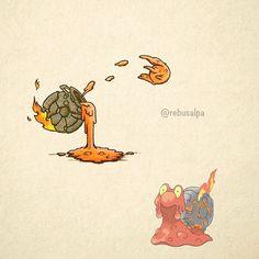 No. 219 - Magcargo. #pokemon #magcargo #cauldron #pokeapon
