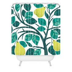 Lucie Rice Pear Tree Shower Curtain | DENY Designs Home Accessories
