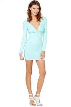 Nasty Gal Knot Over You Dress - Mint | Shop Dresses at Nasty Gal