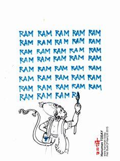 Friday, November 27, 2015 Daily drawings of Hanuman / Hanuman TODAY / Connecting with Hanuman through art / Artwork by Petr Budil [Pritam] www.hanuman.today