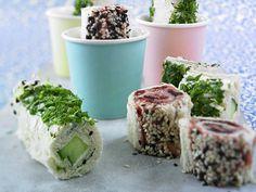 Partyrezepte zum Vorbereiten - lecker und praktisch! - toast-sushi  Rezept