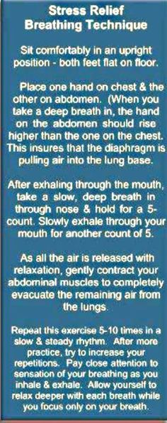 Proper breathing techniques for stress relief