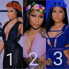 """1,846 Likes, 211 Comments - Nicki Minaj (@nickiswalla) on Instagram: """"1,2 or 3?  cr:@onikaem"""""""
