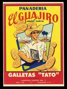 1950s Cuba El Guajiro Bakery Label