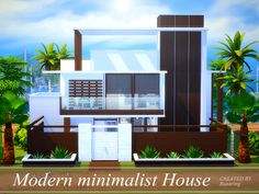 It is a modern minimalist house. Found in TSR Category 'Sims 4 Residential Lots'