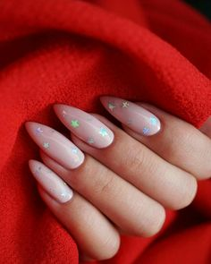 Flare nails and gorgeous nails. Cute Pink Nails, Pink Glitter Nails, Fun Nails, Almond Nails Pink, Bio Gel Nails, Acrylic Nails Pastel, Pastel Pink Nails, Long Almond Nails, Almond Nail Art