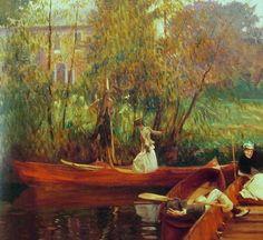 A Boating Party, 1889. John Singer Sargent.