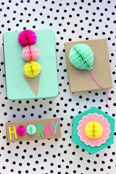 20 ways with honeycomb paper pom poms (Mollie Makes)