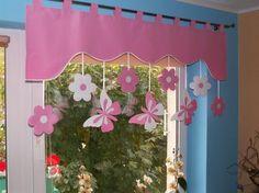 Vorhang Querbehang Fensterdeko Kinderzimmer 140 - 160cm Handarbeit KinderGardine