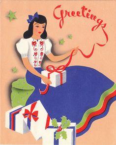 30s Christmas card