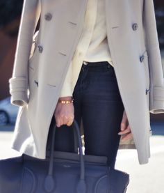 Burberry trench and Celine bag