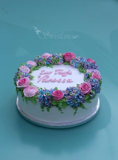 Pretty Cakes, Cute Cakes, Beautiful Cakes, Cake Icing, Eat Cake, Cupcake Cakes, Bolo Floral, Floral Cake, Buttercream Cake Decorating