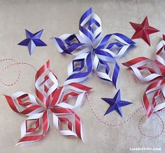 DIY Paper Stars for Fourth of July Decor by Lia Griffith