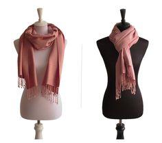 Baumwollschal Rosa   Traditionelle Handarbeit aus Thailand   Größe: ca. 180 x 60 cm   Material: 100% Baumwolle   Farbe: Rosa