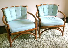 Mid-Century Ficks Reed Bamboo and Rattan Chairs : EBTH