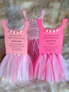 Ballerina Tutu Party Invitation-Set of 8 via Etsy