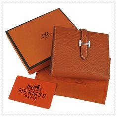 a4fea7aeaf87 Hermes Bearn Mini Gusset Wallet Orange - Dobestbuy Hermes Handbags