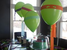 TMNT Balloons, Décor, Birthday with the Ninja Turtles. Sisters2Mothers.com