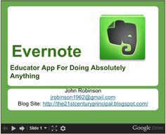 25 Ideas for Using Evernote as an Educator and More!