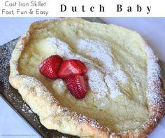 Dutch Baby German Cast Iron Skillet Pancakes
