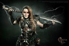 Photoshoot 2015 : Tribal warrior by Deakath on DeviantArt Character Concept, Concept Art, Tribal Warrior, Warrior Women, Weird Dreams, Arm Armor, Fantasy Armor, Photo Manipulation, Strong Women