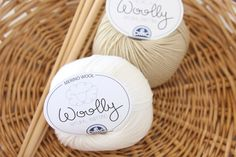 Image of DMC Woolly - Luxurious White and Light Tan