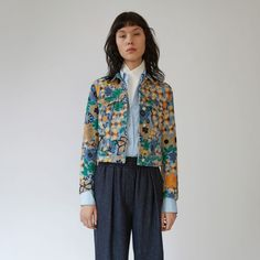 women - jackets - acne - Chea embroided