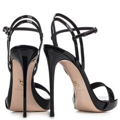 GWEN SANDAL 120 mm Le Silla, Black patent leather sandal: unique creations for women who love to wear feminine and Made in Italy footwear for each occasion. Hot High Heels, High Heels Stilettos, High Heel Boots, Black Heels, Black Sandals, Leather Sandals, Heeled Boots, Stiletto Heels, Shoes Heels