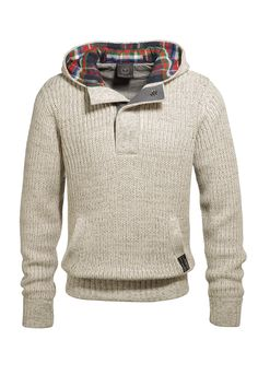 Hooded Sweater with Colorful Lining