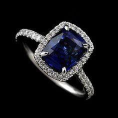 14k White Gold Cut Down Micropave Diamond Engagement by OroSpot